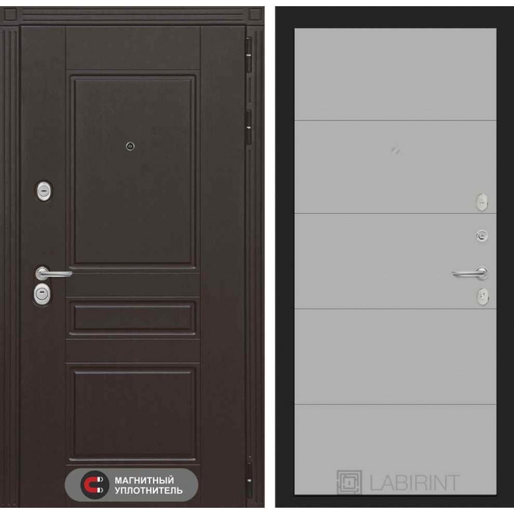 Входная дверь Лабиринт МЕГАПОЛИС 13 - Грей софт (с шумоизоляцией)