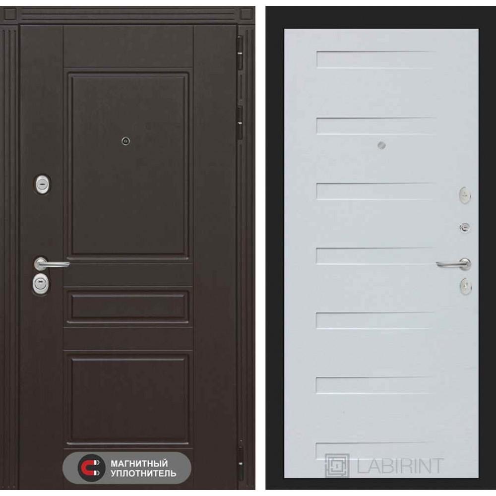 Входная дверь Лабиринт МЕГАПОЛИС 14 - Дуб кантри белый горизонтальный (с шумоизоляцией)