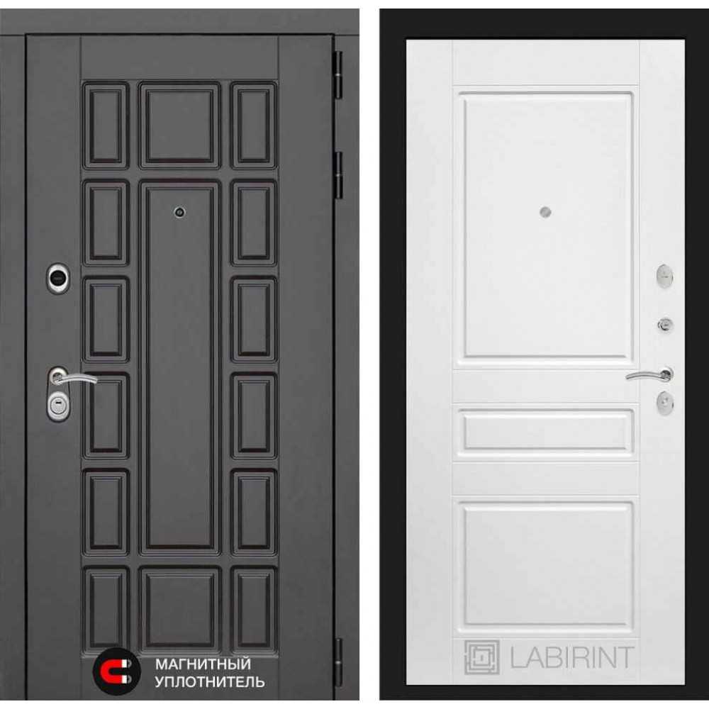 Входная дверь Лабиринт NEW YORK 03 - Белый софт (утепленные)