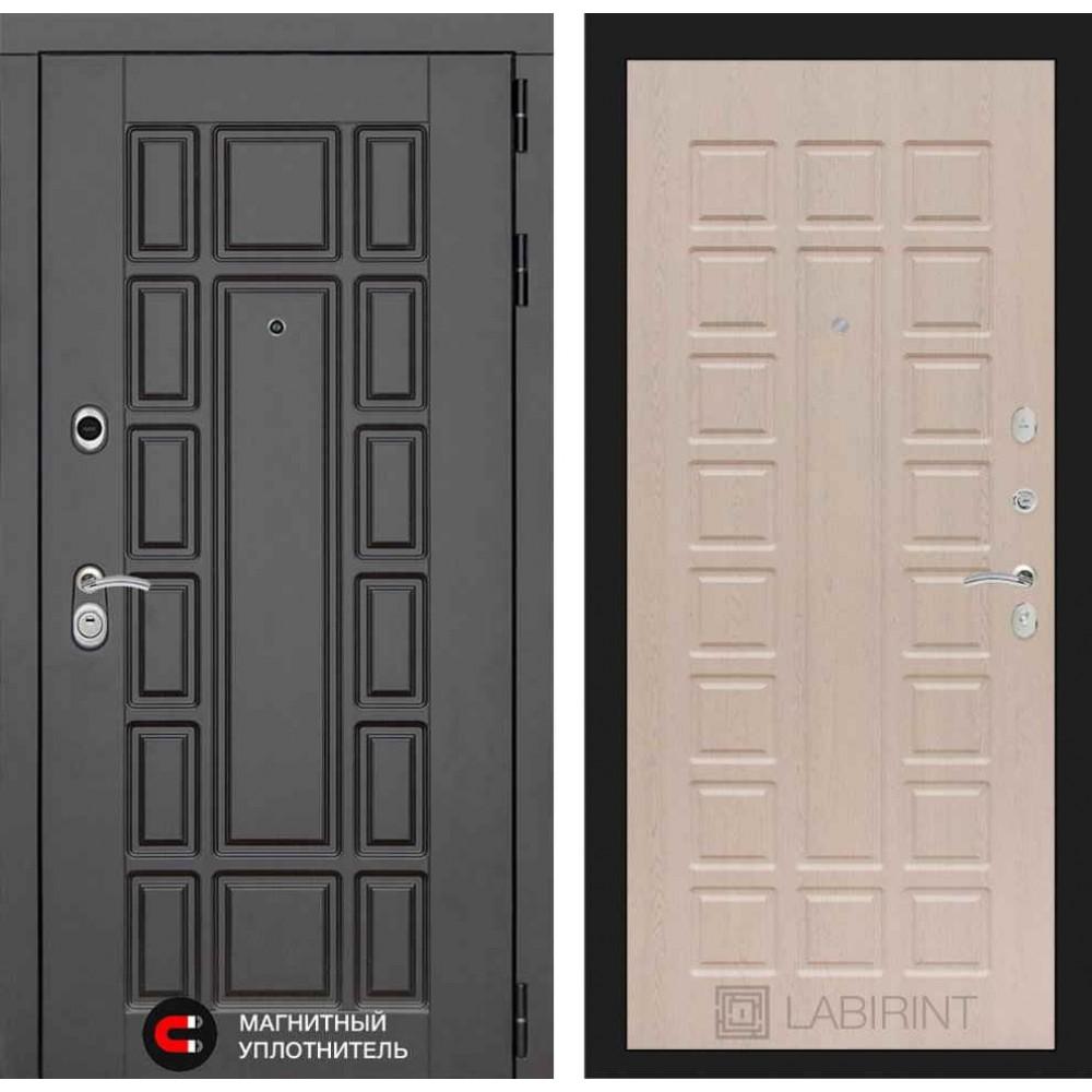 Входная дверь Лабиринт NEW YORK 04 - Беленый дуб (трехконтурные)