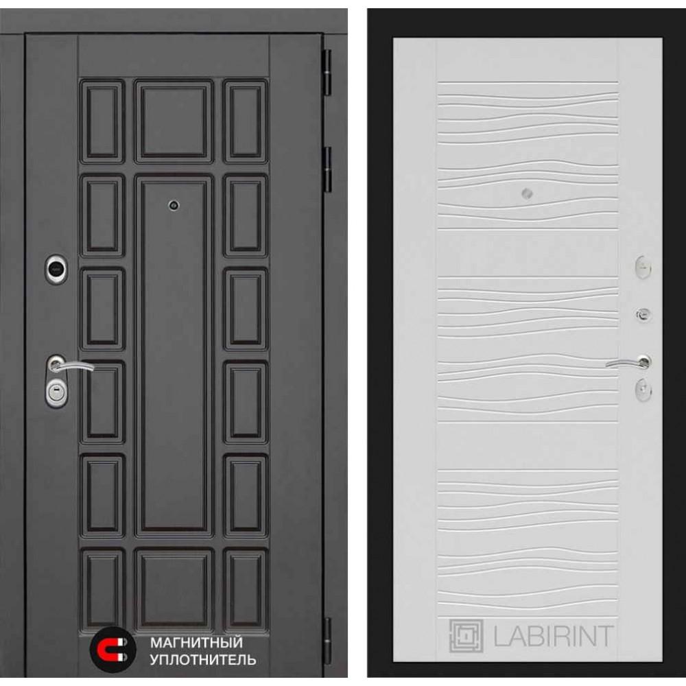 Входная дверь Лабиринт NEW YORK 06 - Белое дерево (сейфовые)