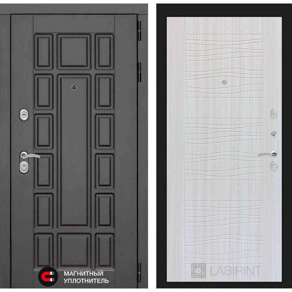 Входная дверь Лабиринт NEW YORK 06 - Сандал белый( с шумоизоляцией)