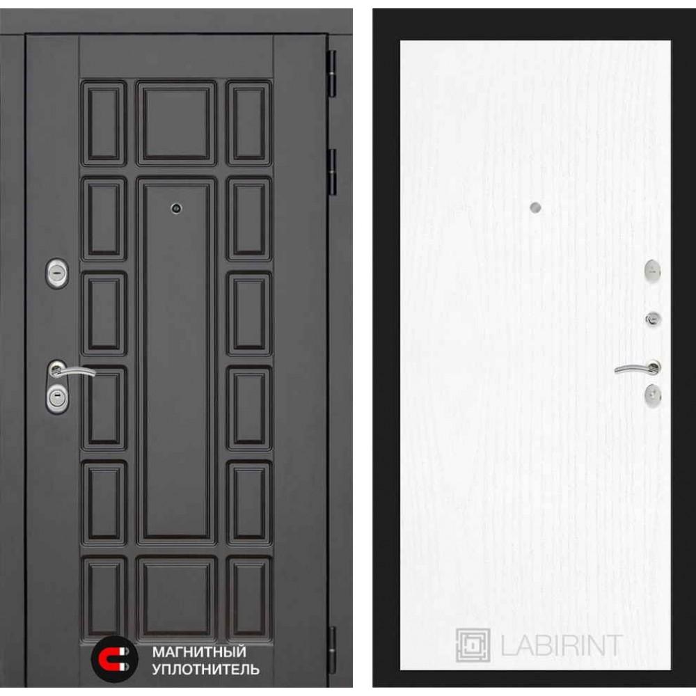Входная дверь Лабиринт NEW YORK 07 - Белое дерево (с шумоизоляцией)