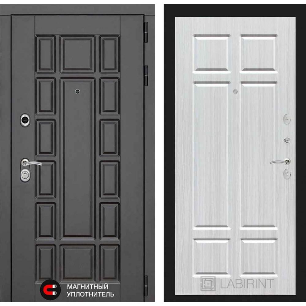 Входная дверь Лабиринт NEW YORK 08 - Кристалл вуд (трехконтурные)