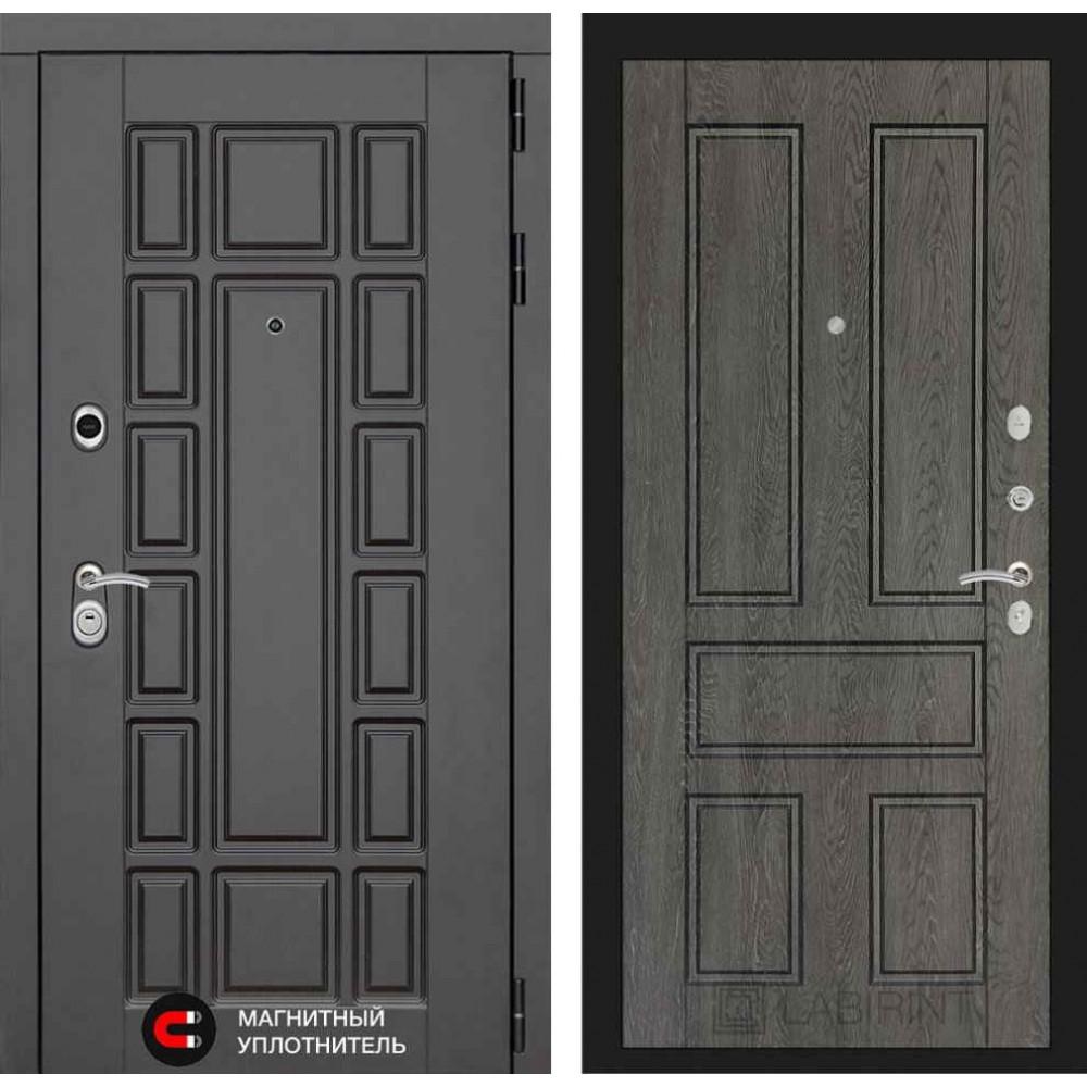 Входная дверь Лабиринт NEW YORK 10 - Дуб филадельфия графит (трехконтурные)