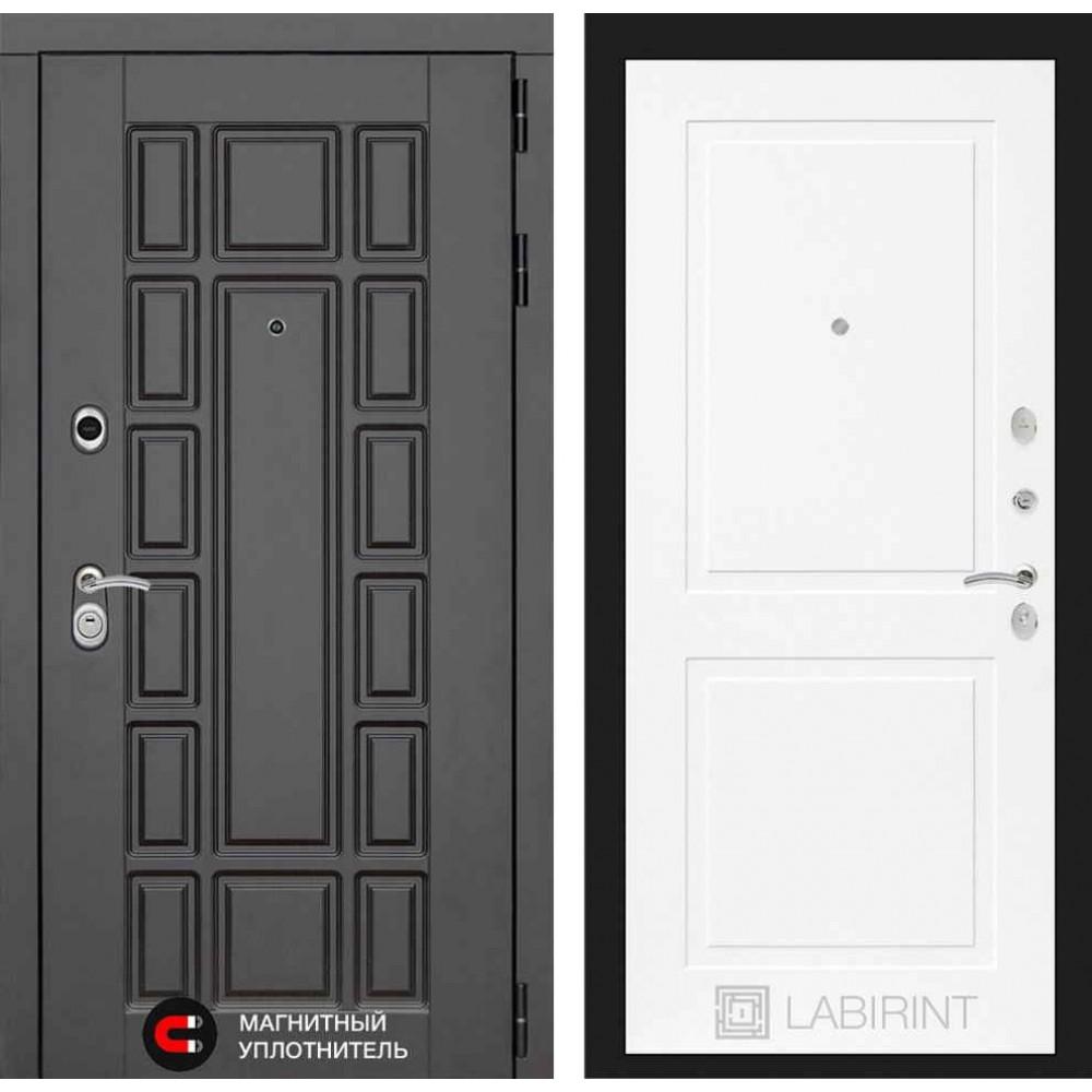 Входная дверь Лабиринт NEW YORK 11 - Белый софт (трехконтурные)
