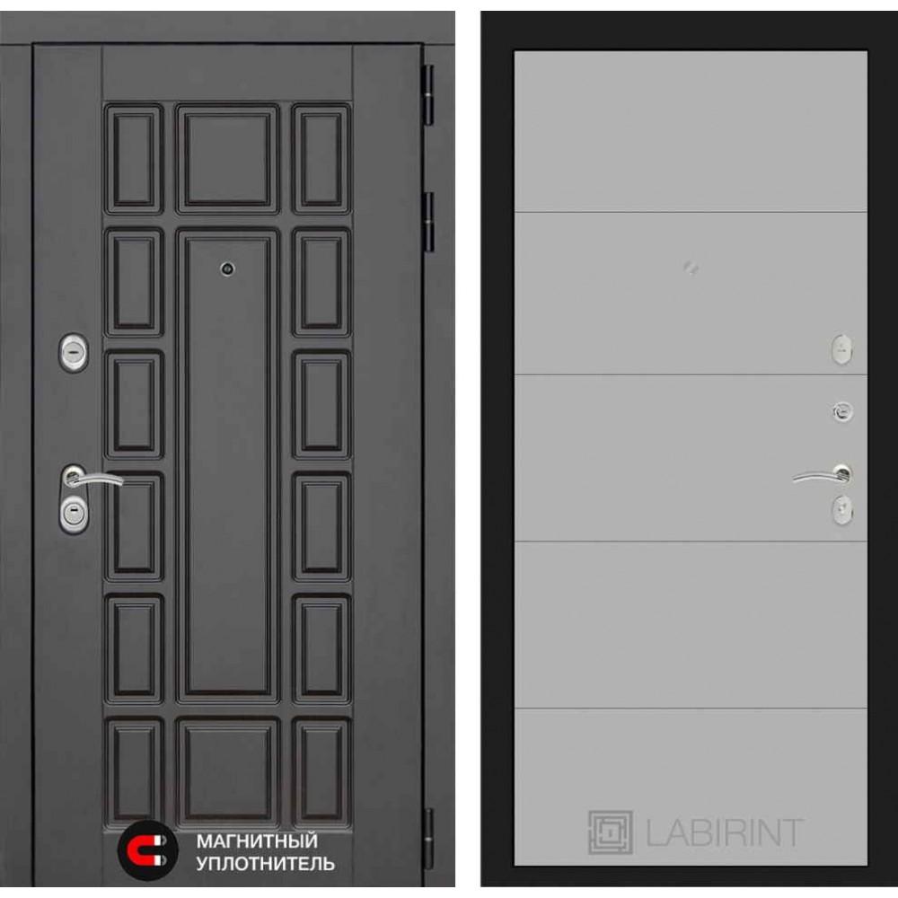 Входная дверь Лабиринт NEW YORK 13 - Грей софт (с шумоизоляцией)