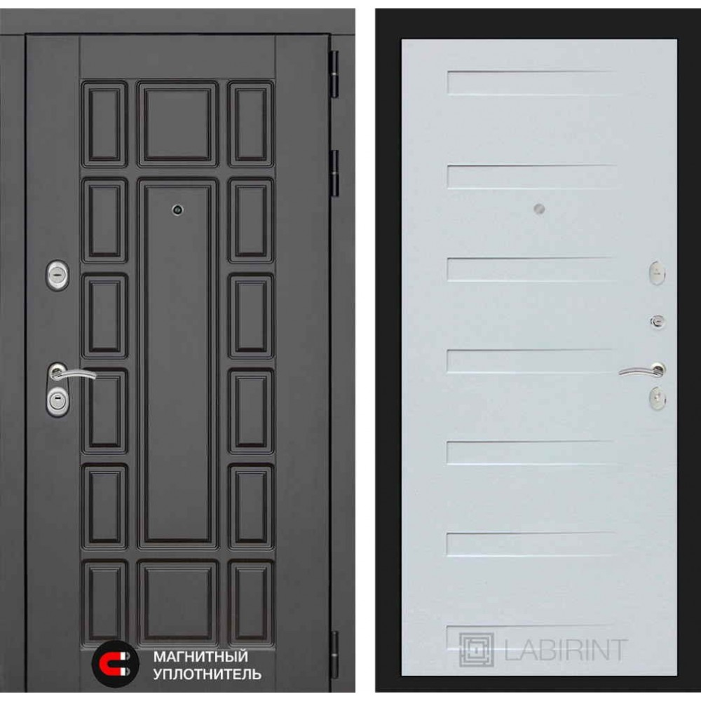 Входная дверь Лабиринт NEW YORK 14 - Дуб кантри белый горизонтальный (сейфовые)