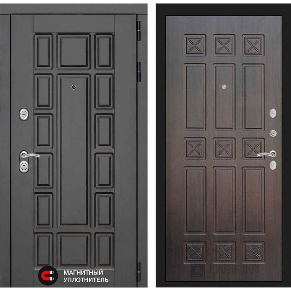 Входная дверь Лабиринт NEW YORK 16 - Алмон 28 (с шумоизоляцией)