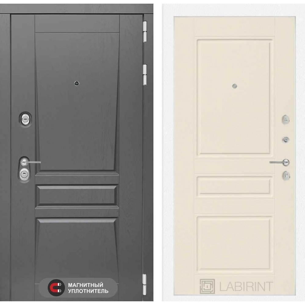 Входная дверь Лабиринт Платинум 03 - Крем софт (утепленные )