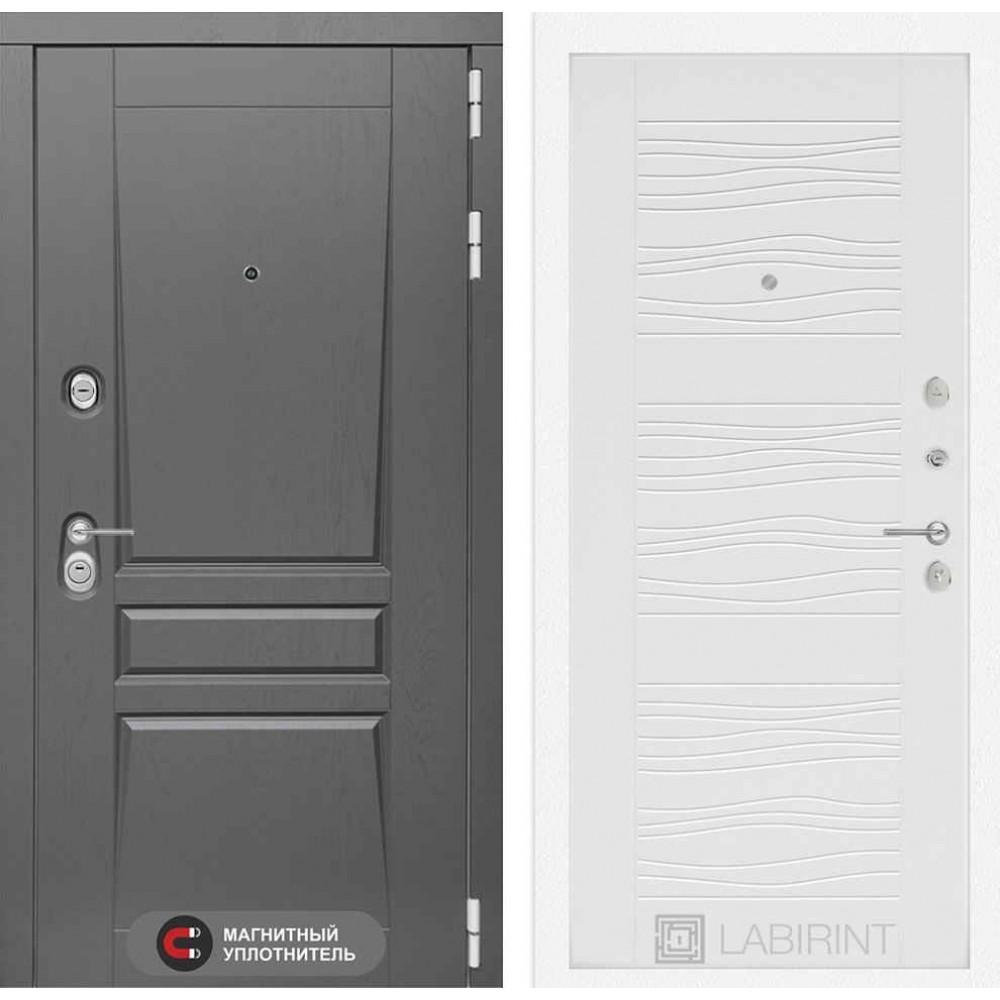 Входная дверь Лабиринт Платинум 06 - Белое дерево (трехконтурные)