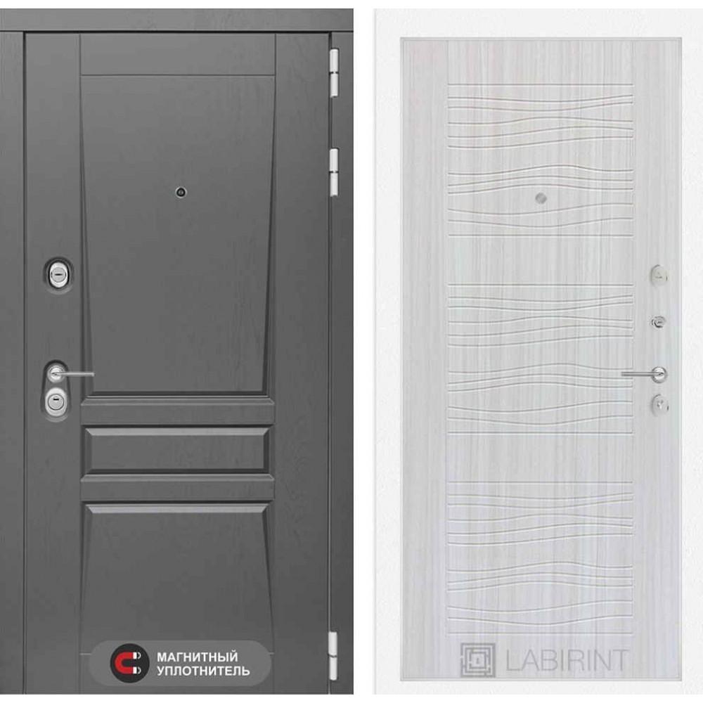 Входная дверь Лабиринт Платинум 06 - Сандал белый (утепленные )