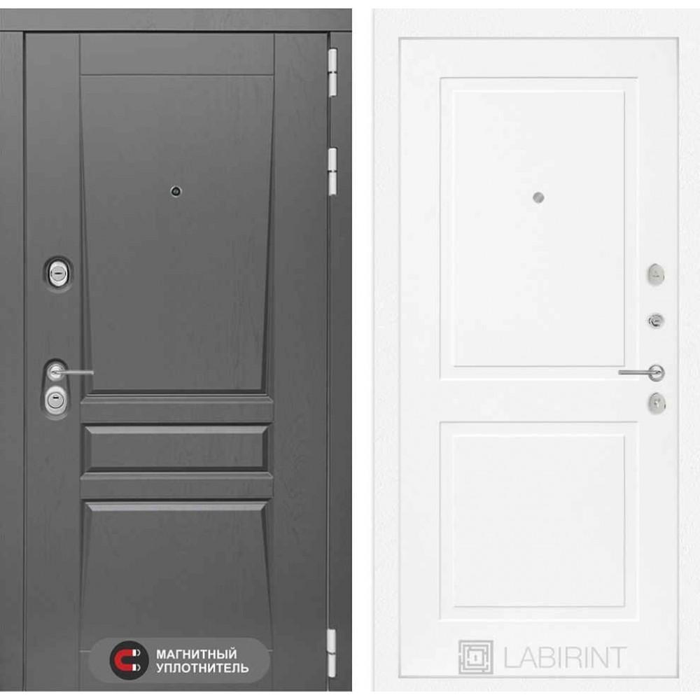 Входная дверь Лабиринт Платинум 11 - Белый софт (с шумоизоляцией)
