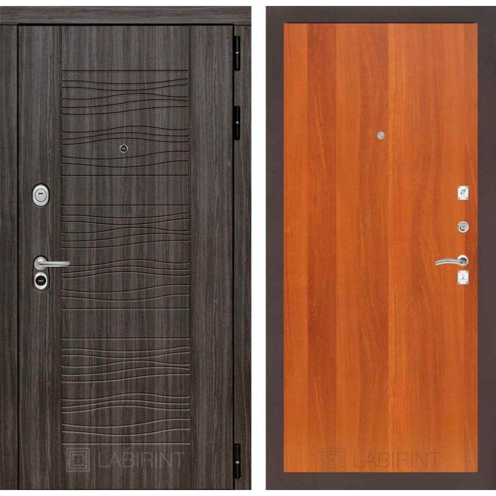 Входная дверь Лабиринт SCANDI Дарк грей 05 - Итальянский орех(с шумоизоляцией)