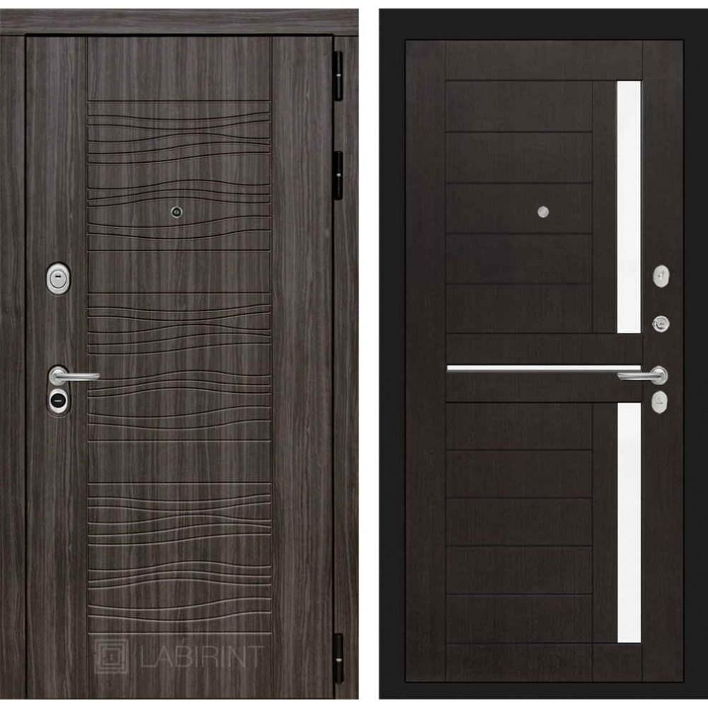 Входная дверь Лабиринт SCANDI Дарк грей 02 - Венге (утепленные)