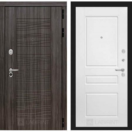 Входная дверь Лабиринт SCANDI Дарк грей 03 - Белый софт (трехконтурные)
