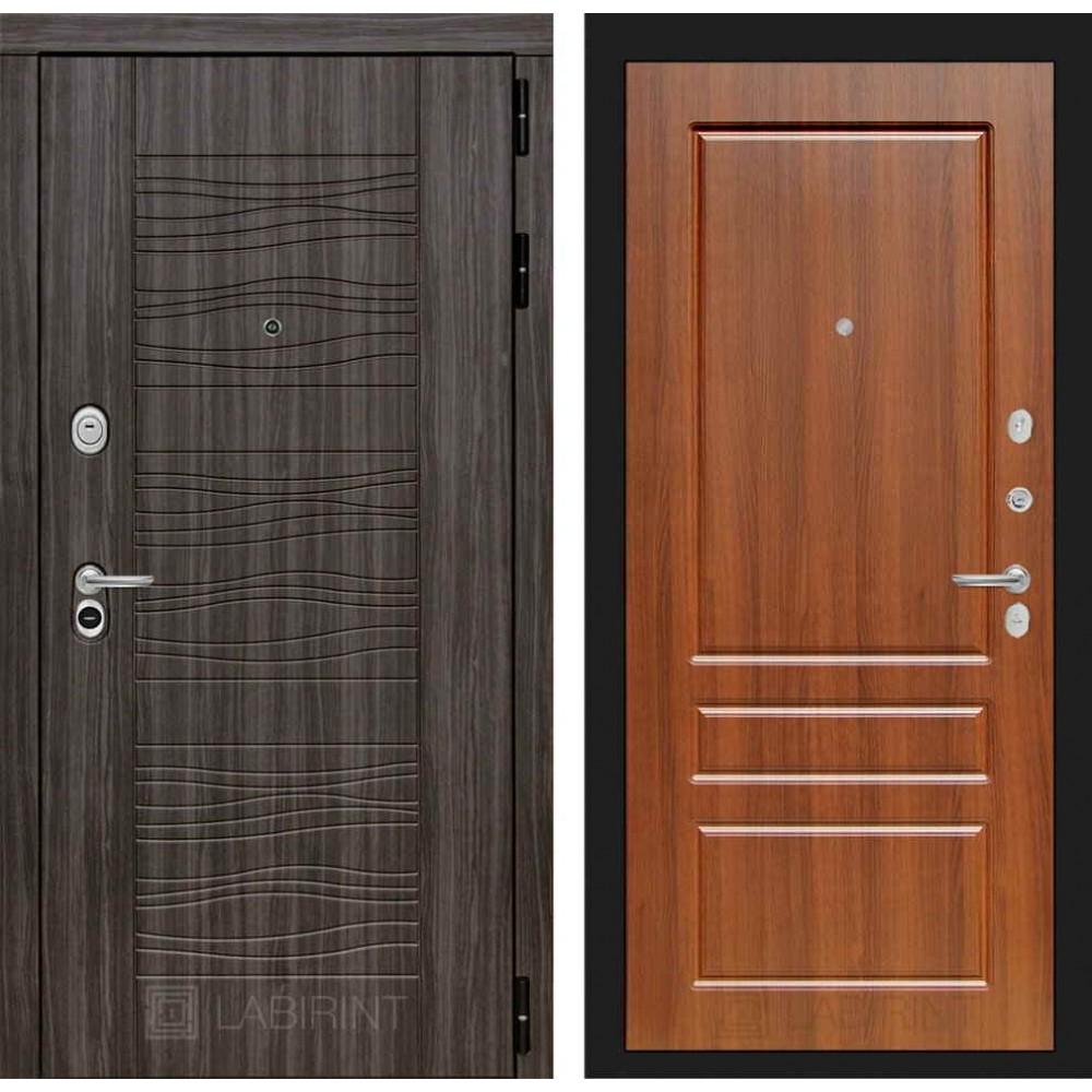 Входная дверь Лабиринт SCANDI Дарк грей 03 - Орех бренди (с шумоизоляцией)