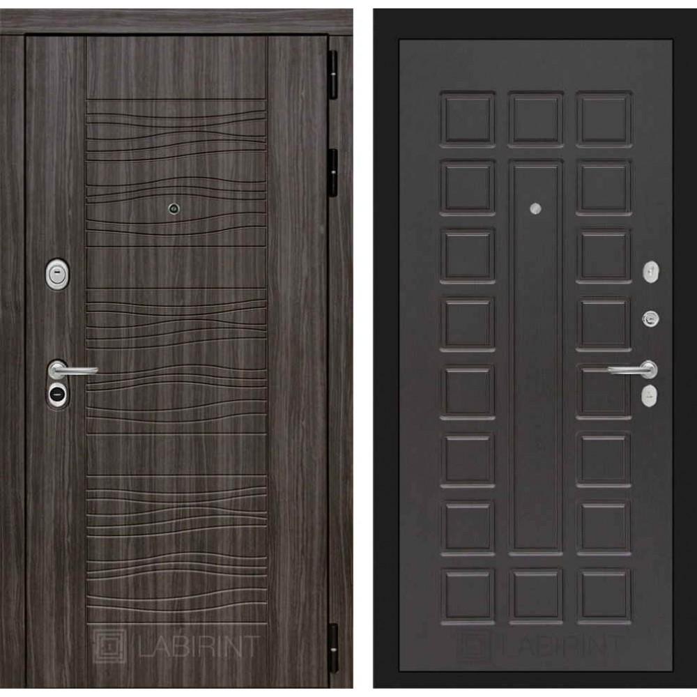 Входная дверь Лабиринт SCANDI Дарк грей 04 - Венге (трехконтурные)