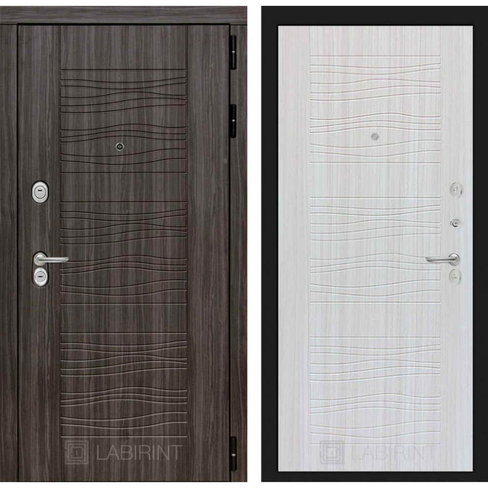 Входная дверь Лабиринт SCANDI Дарк грей 06 - Сандал белый (утепленные)
