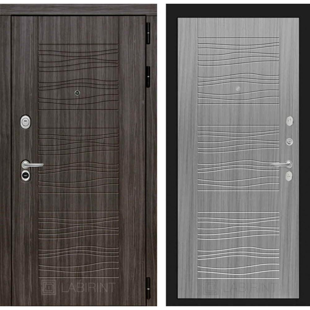 Входная дверь Лабиринт SCANDI Дарк грей 06 - Сандал серый (утепленные)