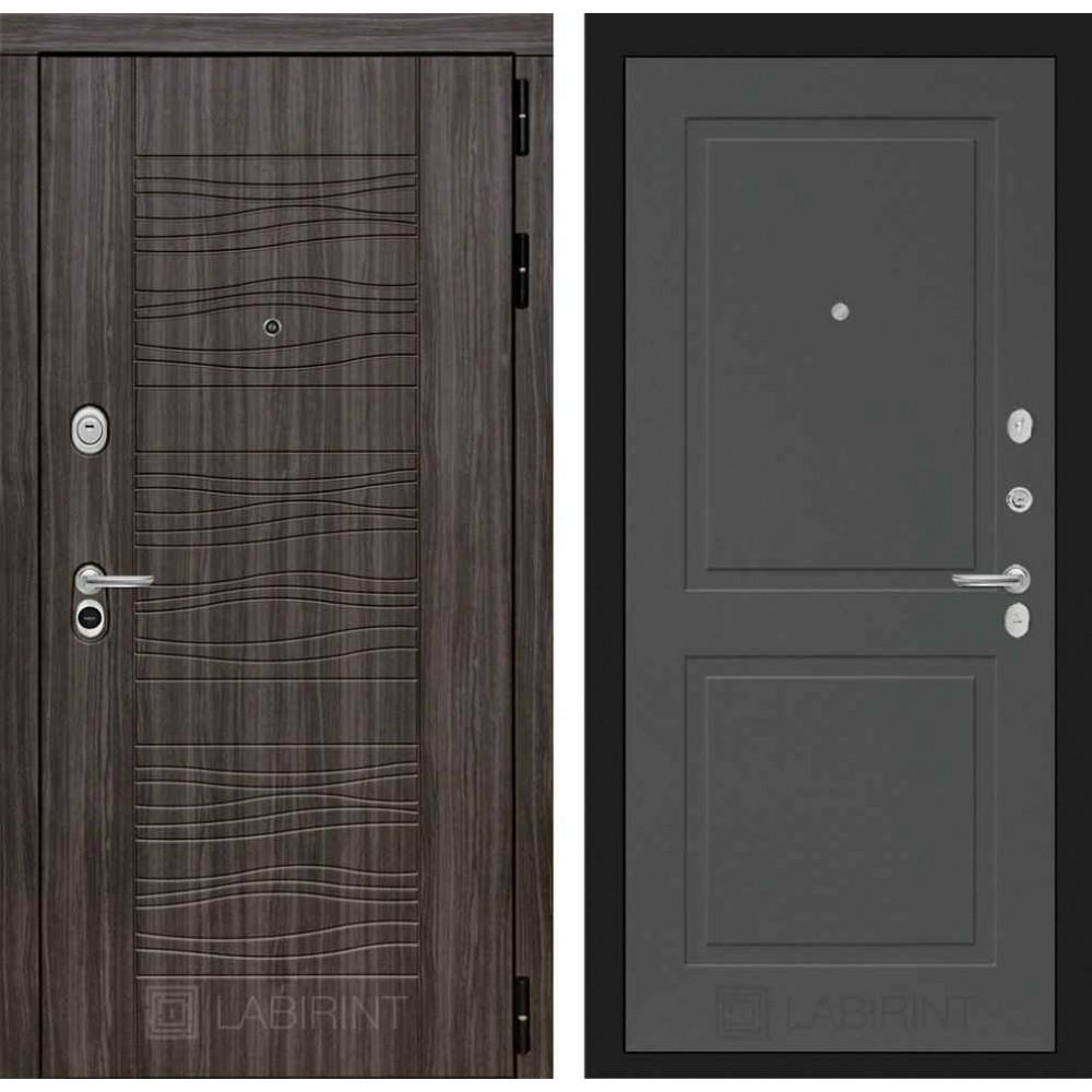 Входная дверь Лабиринт SCANDI Дарк грей 11 - Графит софт (утепленные)