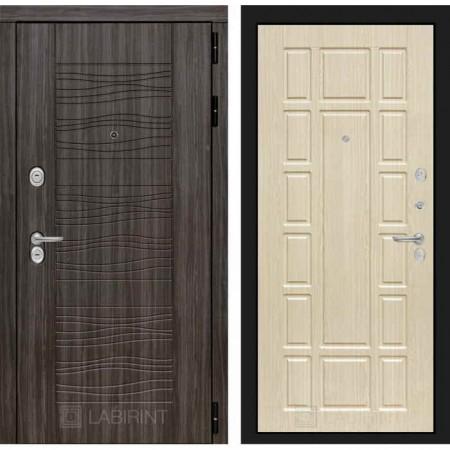 Входная дверь Лабиринт SCANDI Дарк грей 12 - Беленый дуб (трехконтурные)