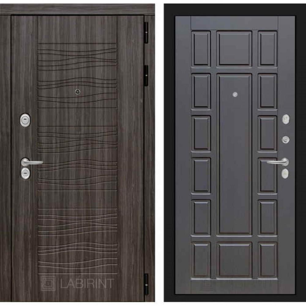 Входная дверь Лабиринт SCANDI Дарк грей 12 - Венге (с шумоизоляцией)