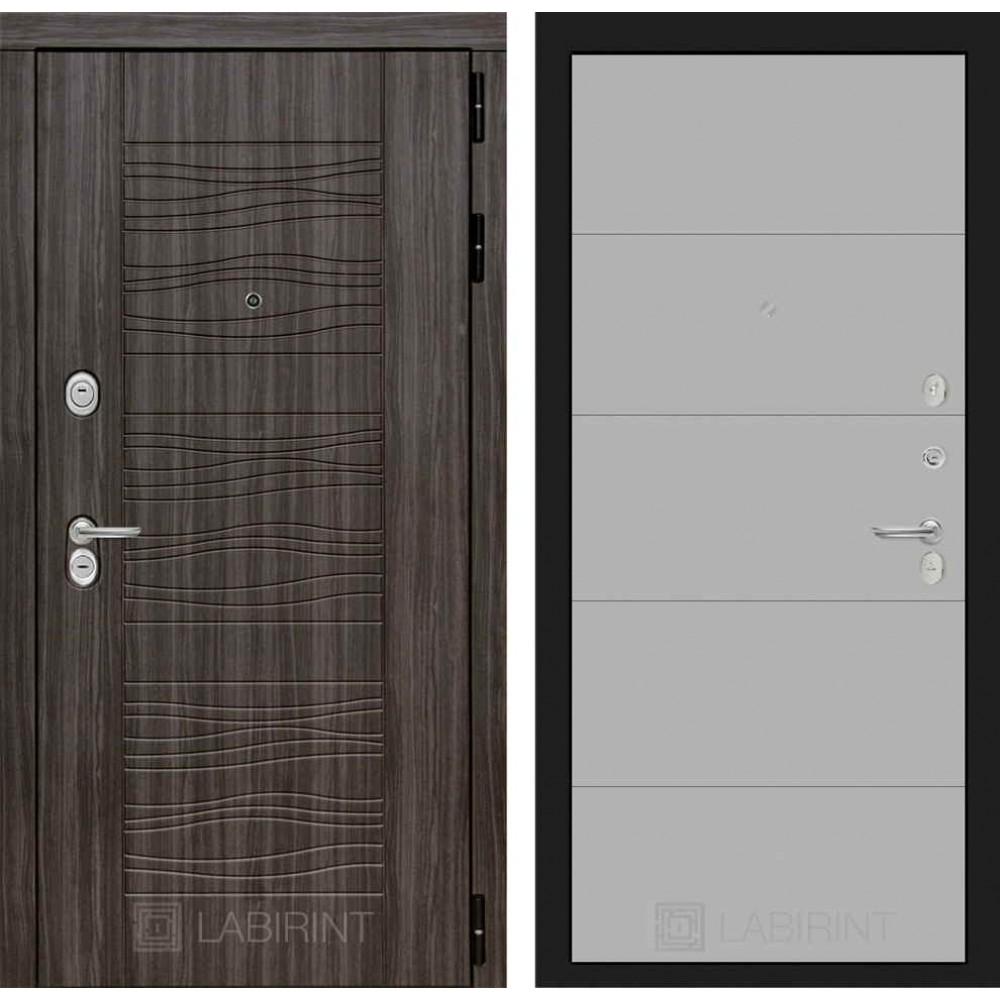 Входная дверь Лабиринт SCANDI Дарк грей 13 - Грей софт (с шумоизоляцией)