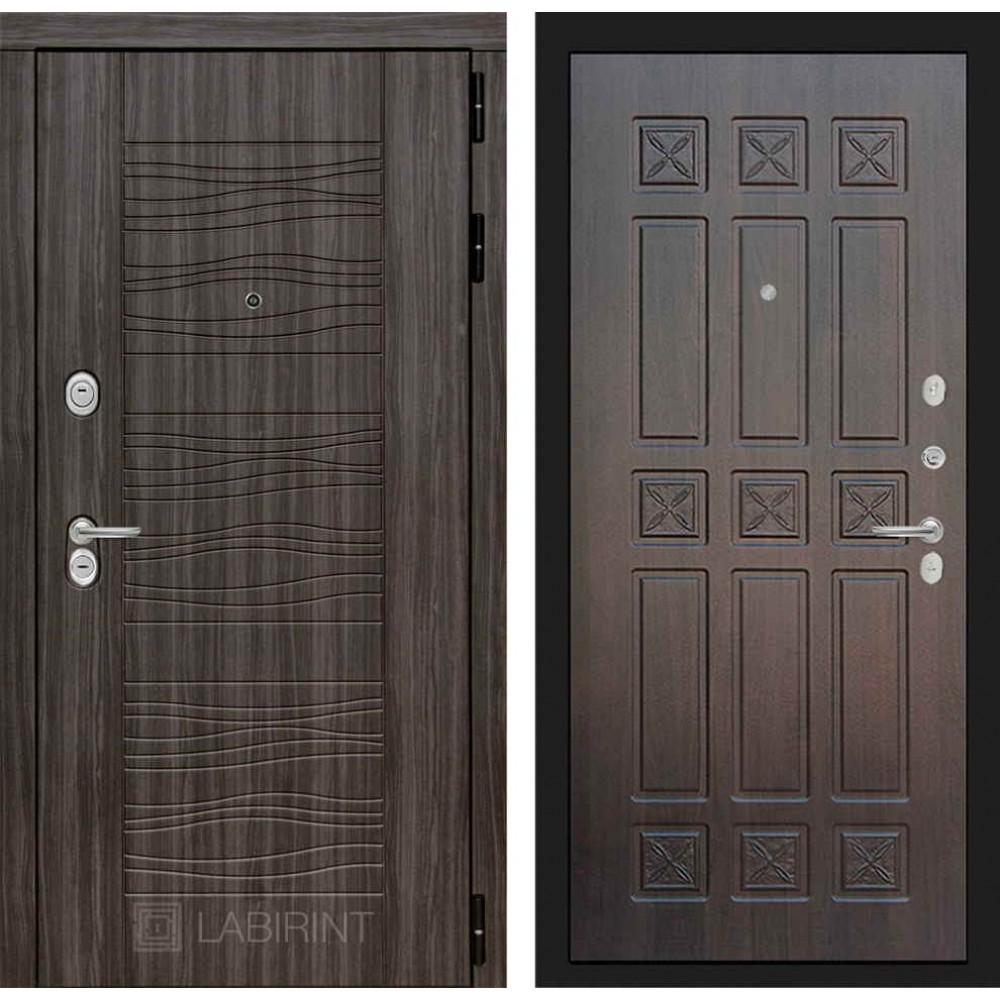 Входная дверь Лабиринт SCANDI Дарк грей 16 - Алмон 28 (с шумоизоляцией)