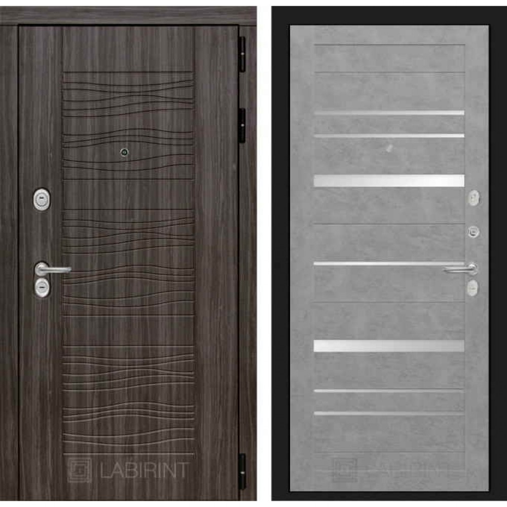 Входная дверь Лабиринт SCANDI 20 Бетон светлый (утепленные)