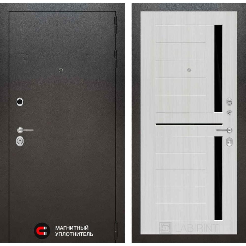 Входная дверь Лабиринт SILVER 02 - Сандал белый (антивандальные )