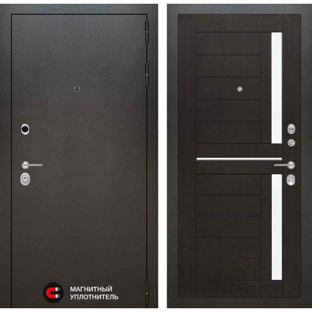 Входная дверь Лабиринт SILVER 02 - Венге (утепленные)