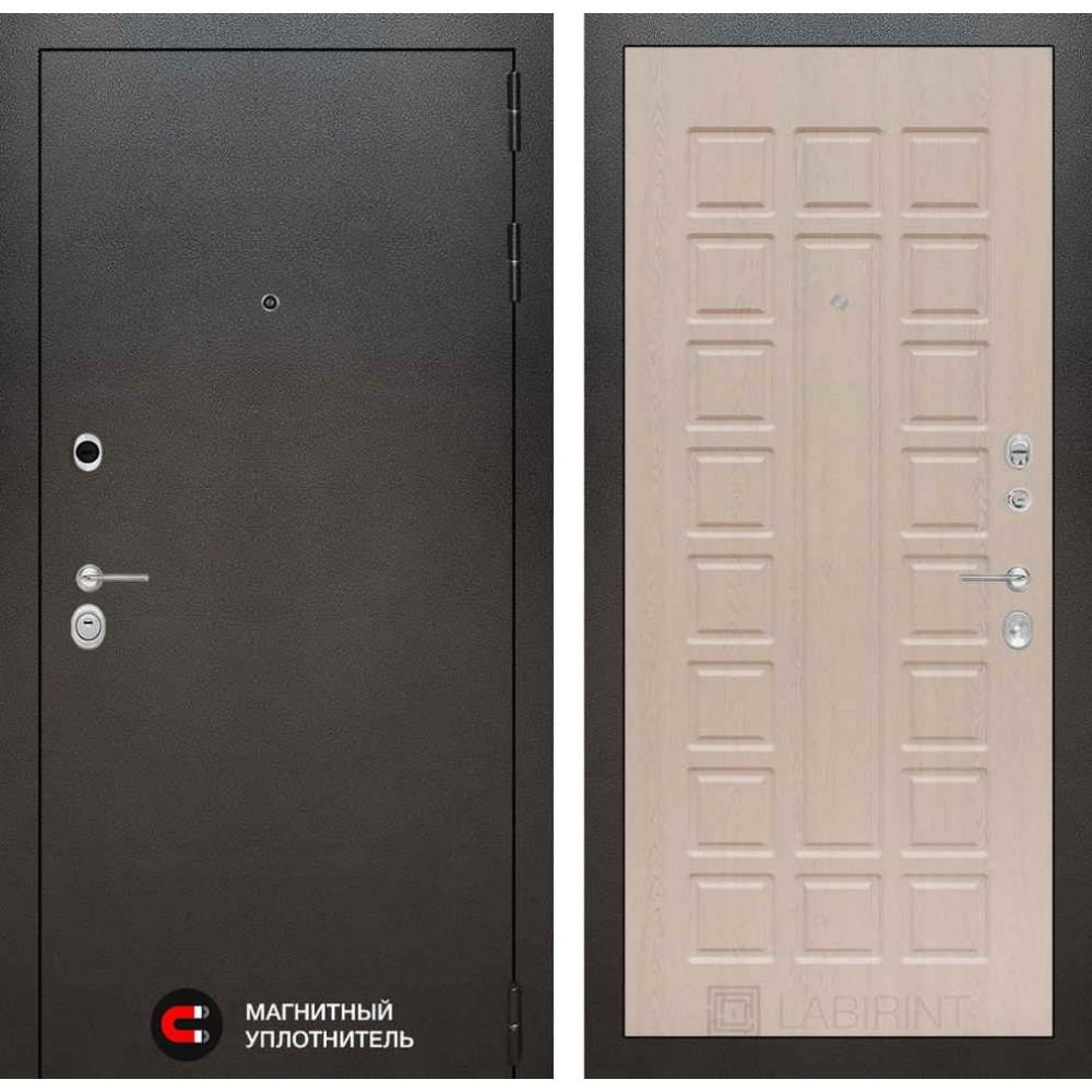 Входная дверь Лабиринт SILVER 04 - Беленый дуб (трехконтурные)