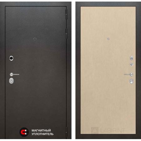 Входная дверь Лабиринт SILVER 05 - Венге светлый (с шумоизоляцией)