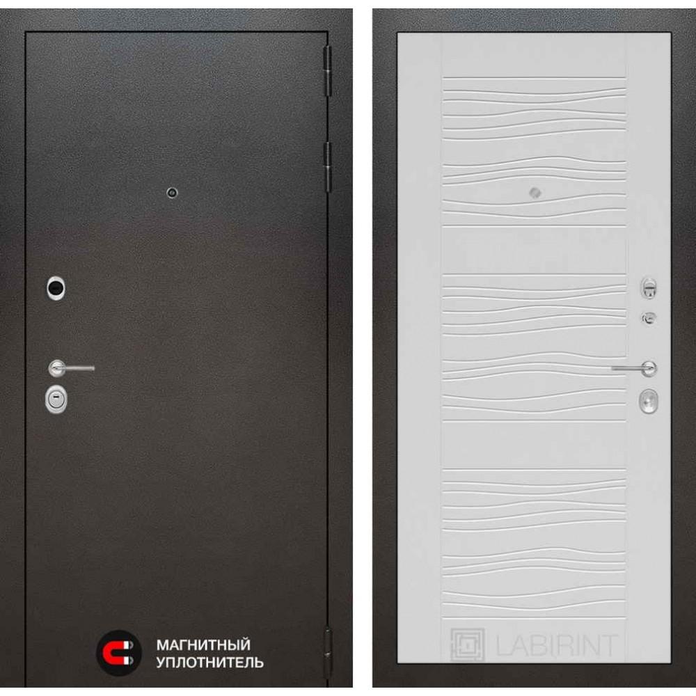 Входная дверь Лабиринт SILVER 06 - Белое дерево (с шумоизоляцией)