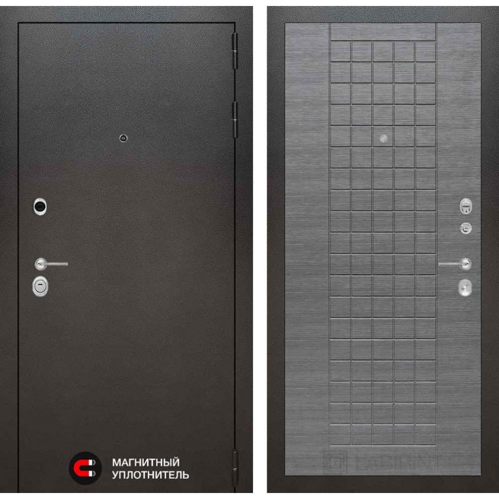 Входная дверь Лабиринт SILVER 09 - Лен сильвер грей (трехконтурные)