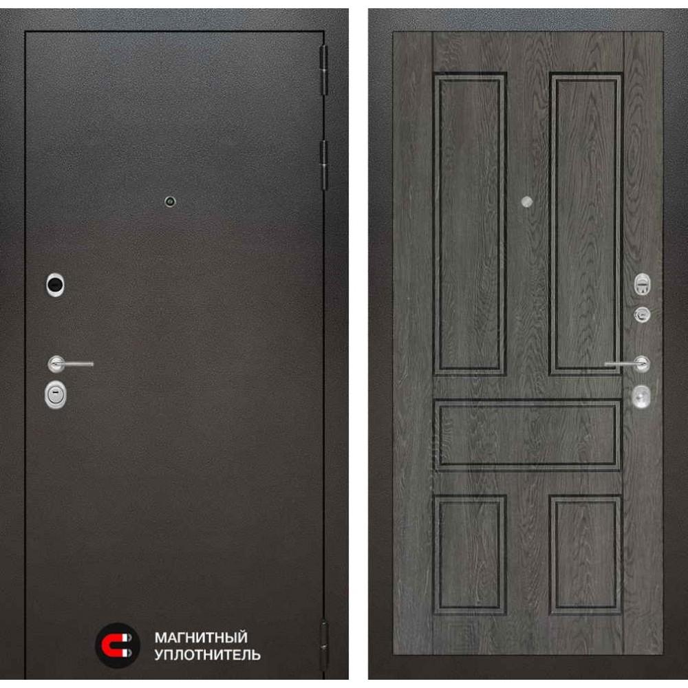 Входная дверь Лабиринт SILVER 10 - Дуб филадельфия графит (с шумоизоляцией)