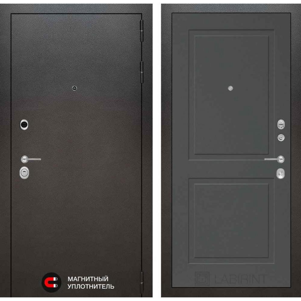 Входная дверь Лабиринт SILVER 11 - Графит софт (утепленные)