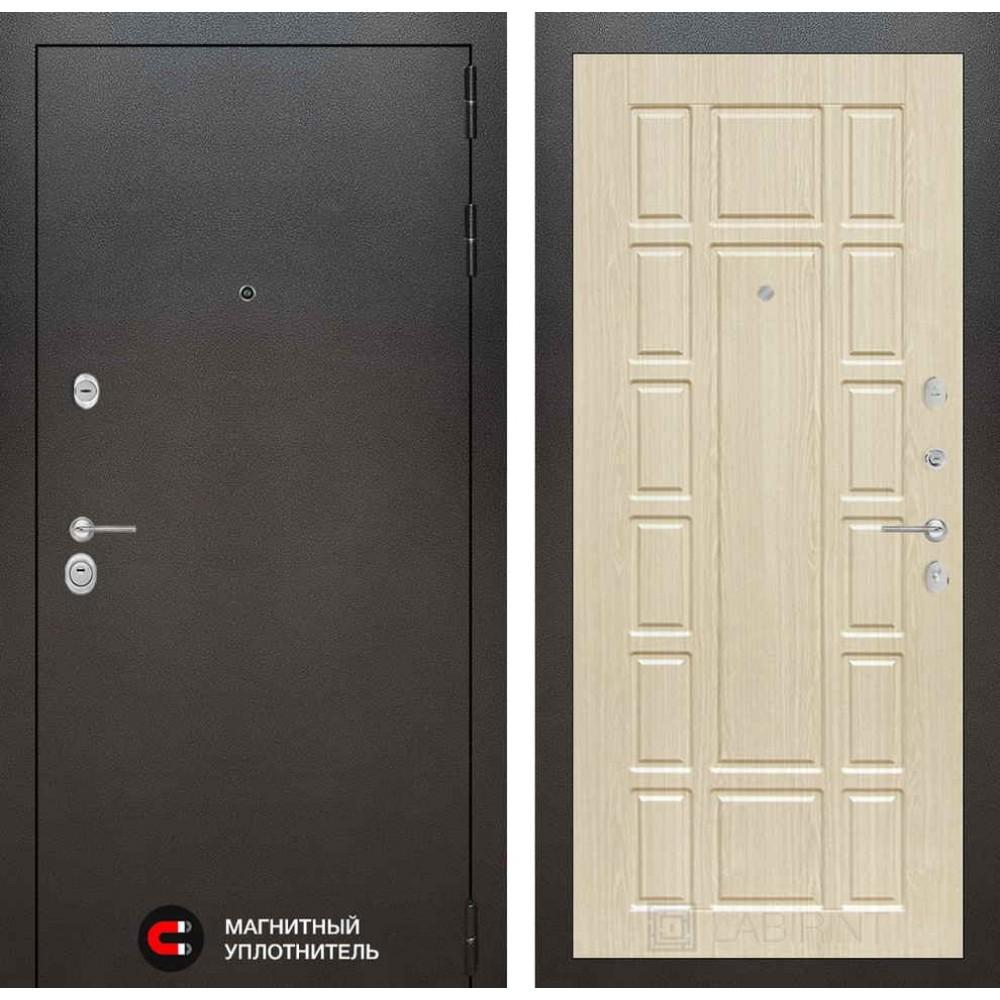 Входная дверь Лабиринт SILVER 12 - Беленый дуб (с шумоизоляцией)
