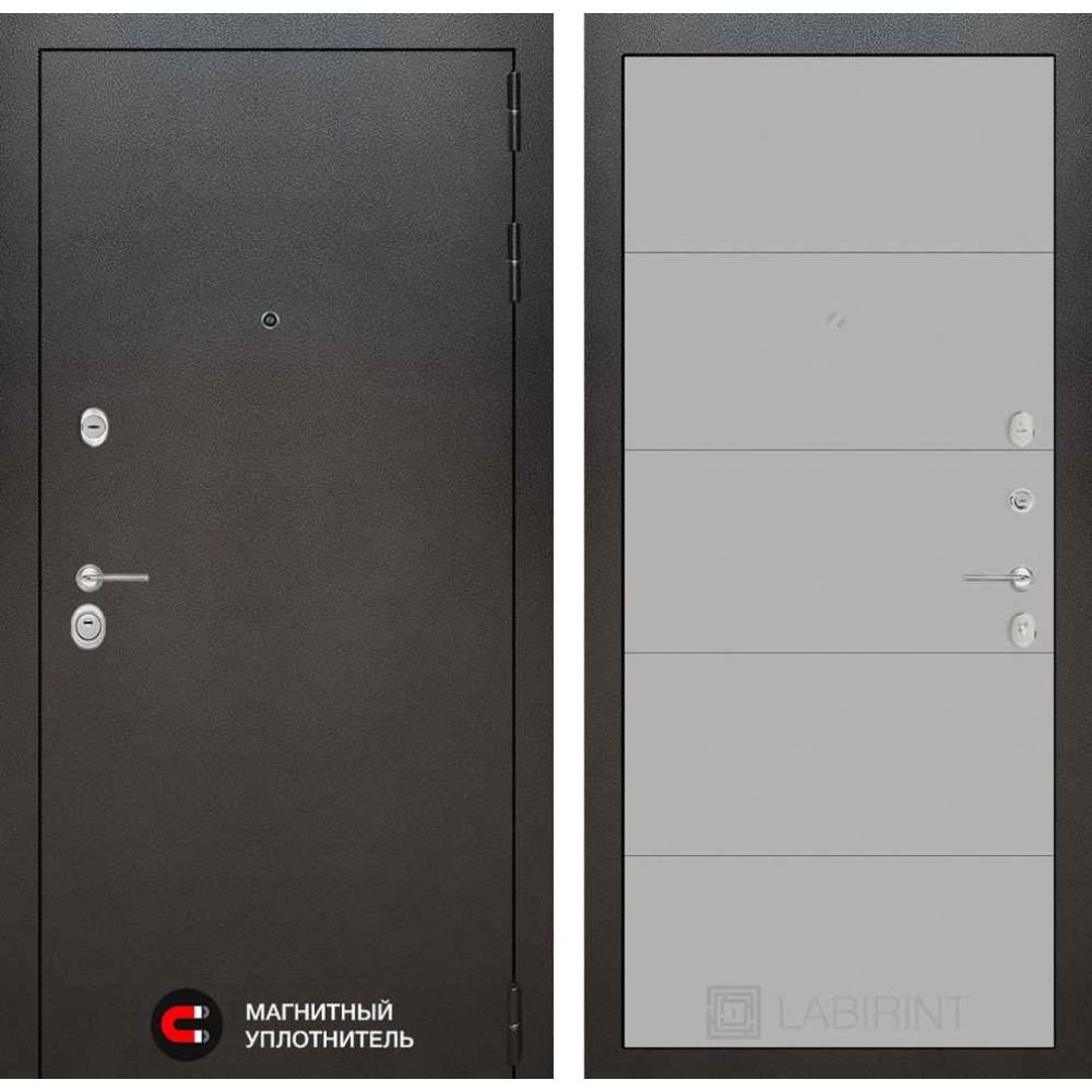 Входная дверь Лабиринт SILVER 13 - Грей софт (антивандальные)