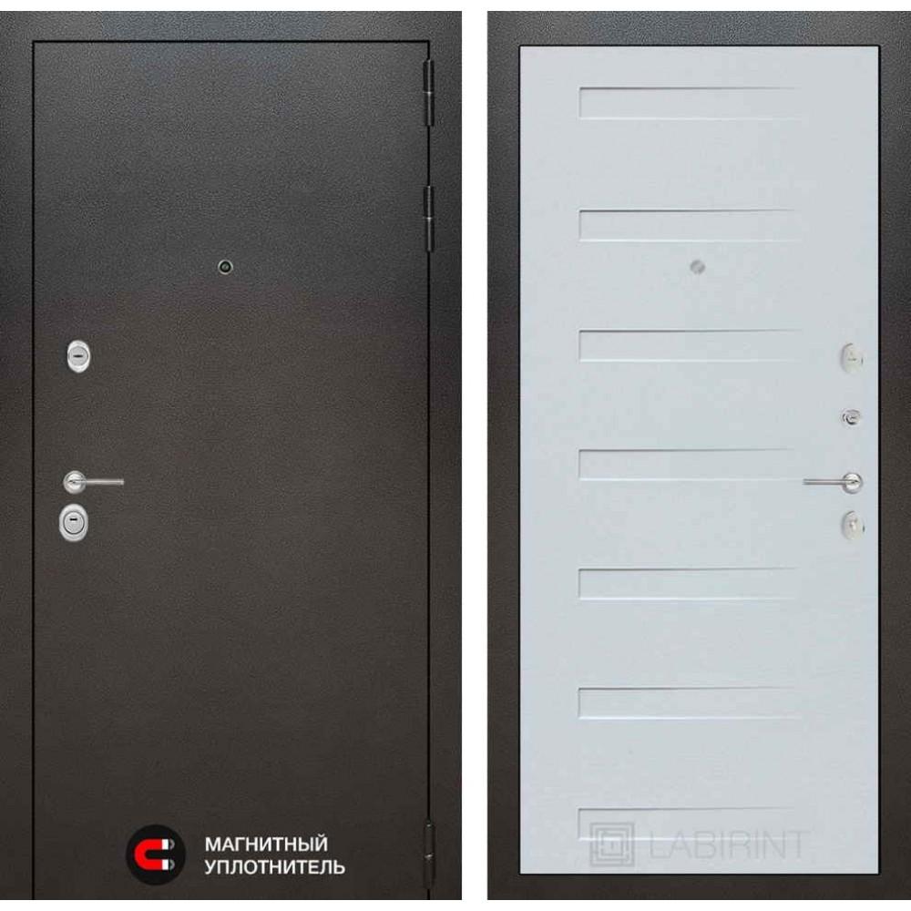 Входная дверь Лабиринт SILVER 14 - Дуб кантри белый горизонтальный (трехконтурные)