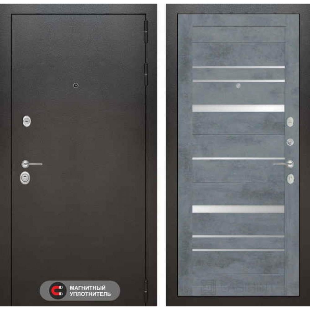 Входная дверь Лабиринт SILVER 20 Бетон темный (утепленные)