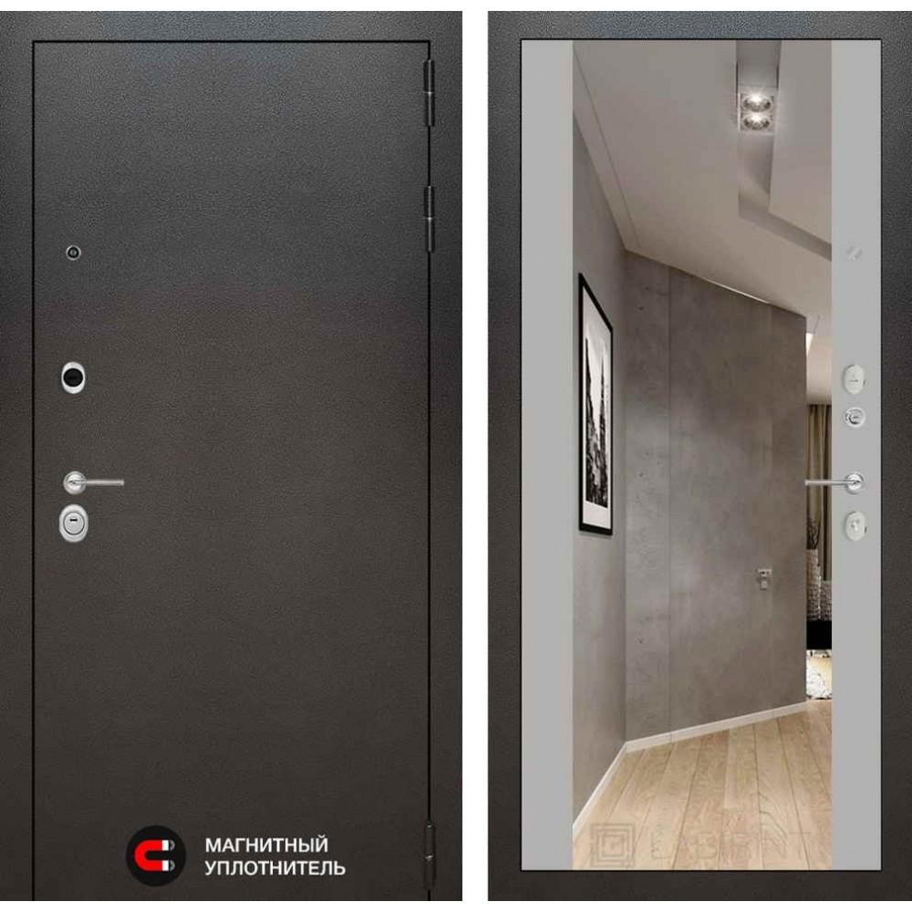 Входная дверь Лабиринт SILVER с Зеркалом Максимум - Софт Грей (трехконтурные)