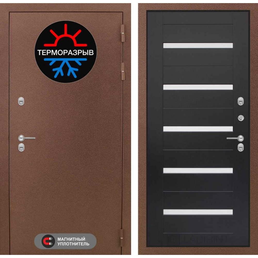Входная дверь Лабиринт Термо Магнит 01 - Венге, стекло белое (морозостойкие )