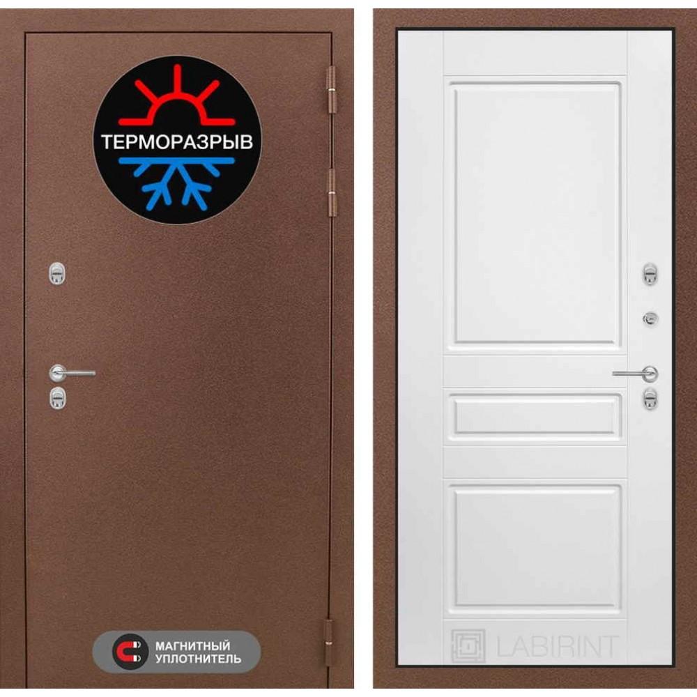 Входная дверь Лабиринт Термо Магнит 03 - Белый софт (сейфовые)
