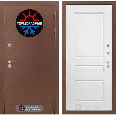 Входные двери с терморазрывом Лабиринт Термо Магнит 03 - Белый софт (сейфовые)
