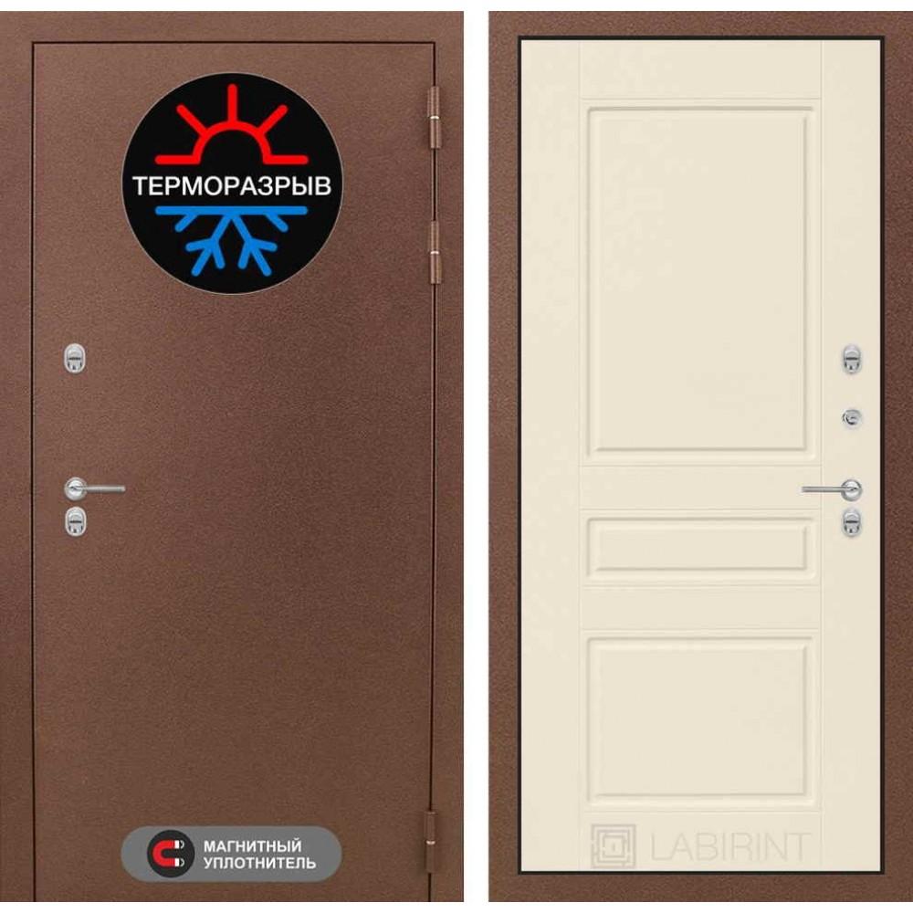 Входная дверь Лабиринт Термо Магнит 03 - Крем софт (сейфовые)