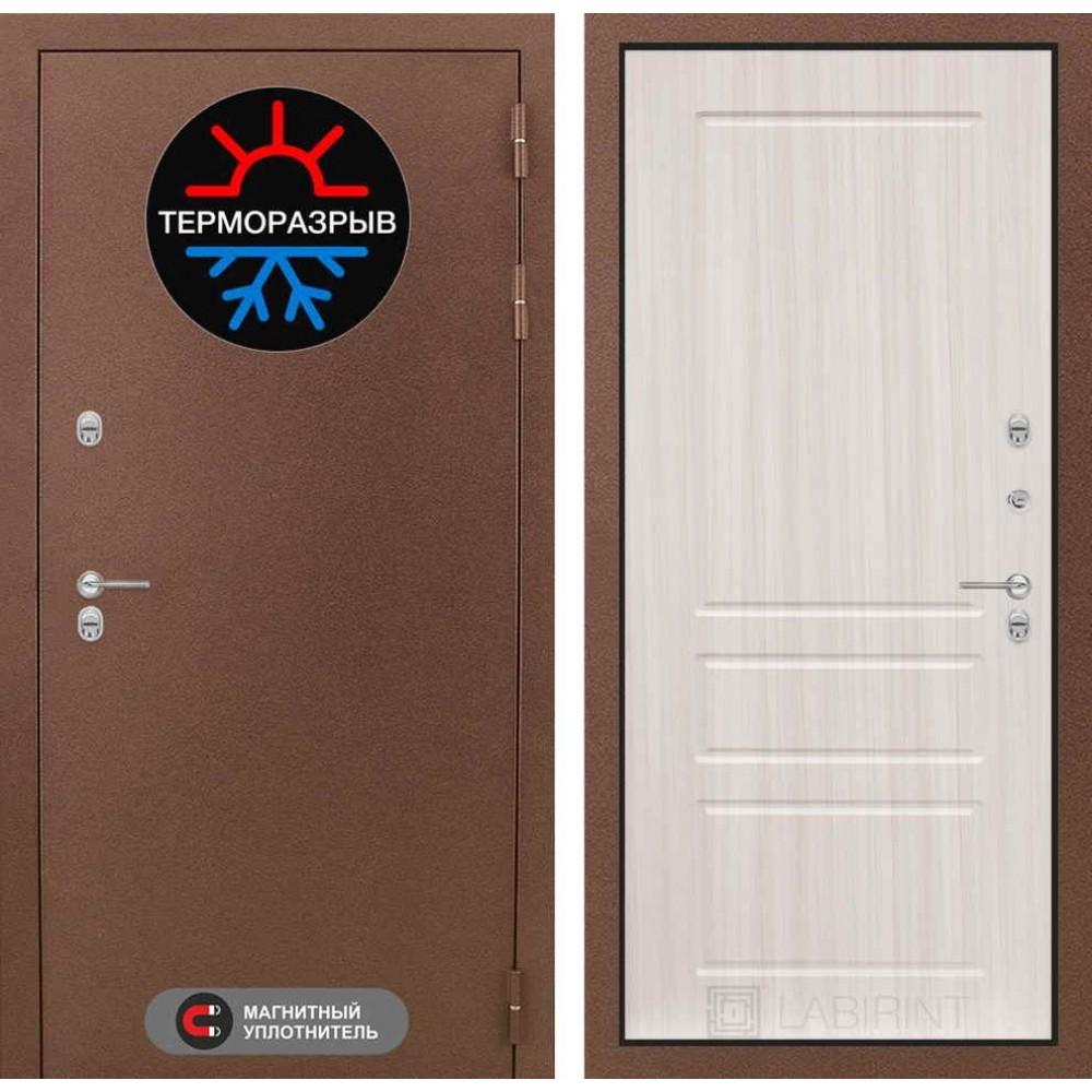 Входная дверь Лабиринт Термо Магнит 03 - Сандал белый (утепленные)