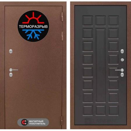 Входная дверь для дома с терморазрывом Лабиринт Термо Магнит 04 - Венге (утепленные)