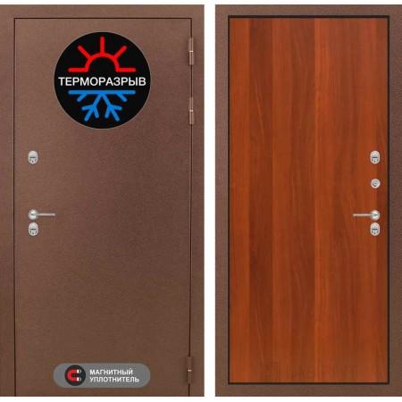 Термо дверь входная Лабиринт Термо Магнит 05 - Итальянский орех (с терморазрывом)